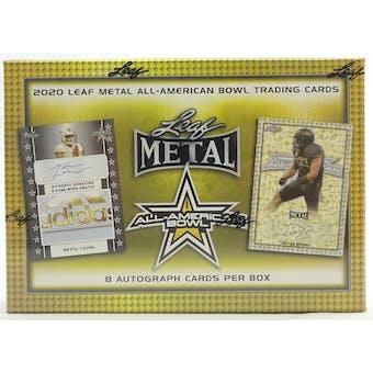 2020 Leaf Metal All-American Football Hobby Box