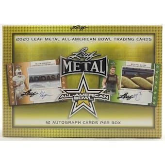 2020 Leaf Metal All-American Football Jumbo Box