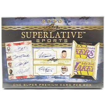 2020 Leaf Superlative Sports Hobby Box