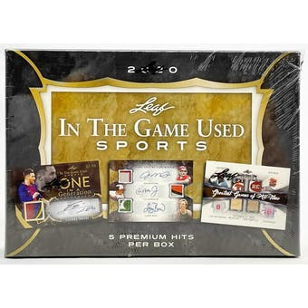 2020 Leaf In The Game Used Sports Hobby Box