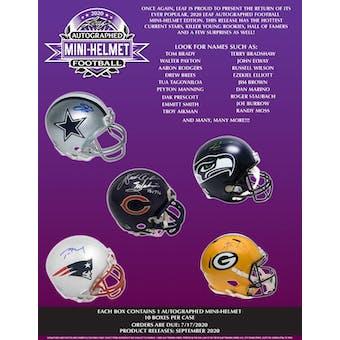 2020 Leaf Autographed Mini-Helmet Football Hobby Box (Presell)