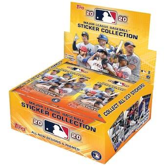 2020 Topps Baseball MLB Sticker Collection Box