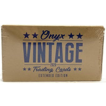2020 Onyx Vintage Extended Series Baseball Hobby Box (Lot of 3)