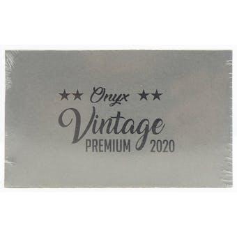 2020 Onyx Vintage Premium Baseball Hobby Box