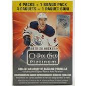 2019/20 Upper Deck O-Pee-Chee Platinum Hockey 5-Pack Blaster Box
