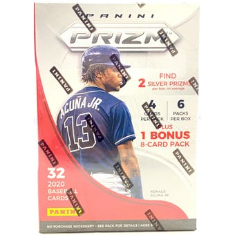 2020 Panini Prizm Baseball 6-Pack Blaster Box (Lot of 6)