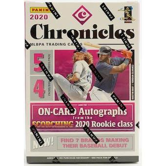 2020 Panini Chronicles Baseball 4-Pack Blaster Box