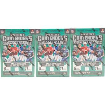 2019 Panini Contenders Football 11-Pack Blaster Box (Lot of 3)