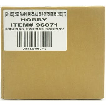 2020 Panini Contenders Baseball Hobby 12-Box Case
