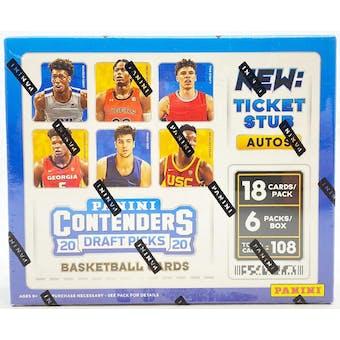 2020/21 Panini Contenders Draft Basketball Hobby Box