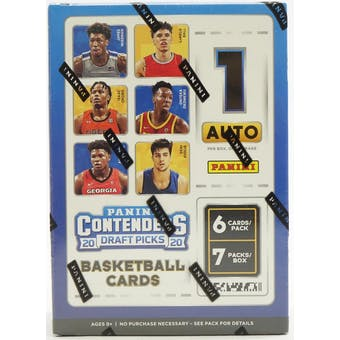 2020/21 Panini Contenders Draft Basketball 7-Pack Blaster Box