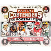 2020 Panini Contenders Football FOTL 5-Box- DACW Live 32 Spot Random Team Break #2