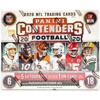 2020 Panini Contenders Football Hobby 1st Off The Line FOTL Box