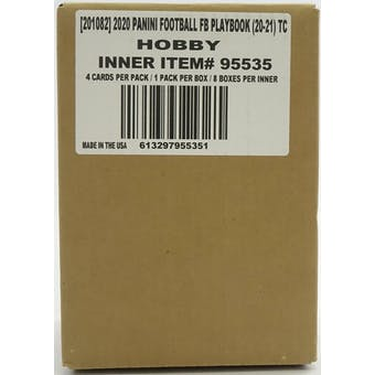2020 Panini Playbook Football Hobby 8-Box Case