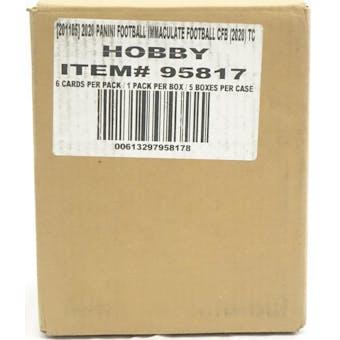 2020 Panini Immaculate Collegiate Football Hobby 5-Box Case