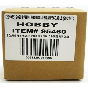 2020 Panini Impeccable Football Hobby 3-Box Case