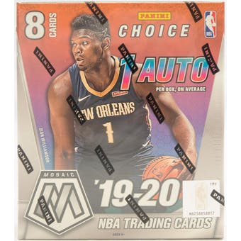 2019/20 Panini Mosaic Choice Basketball Hobby Box