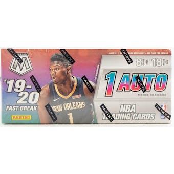 2019/20 Panini Mosaic Fast Break Basketball Hobby Box