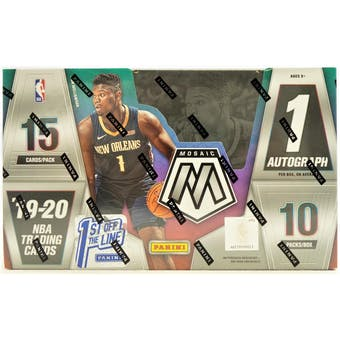 2019/20 Panini Mosaic 1st Off The Line Basketball Hobby Box