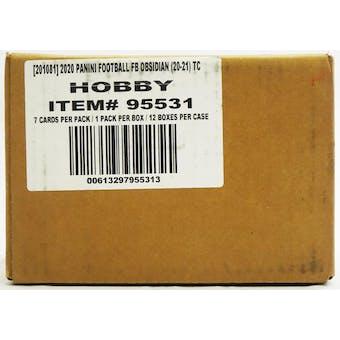 2020 Panini Obsidian Football Hobby 12-Box Case