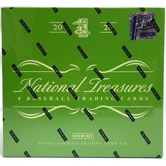 2020 Panini National Treasures Baseball 1st Off The Line FOTL Hobby Box