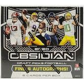 2020 Panini Obsidian Draft Picks Collegiate Football Hobby Box