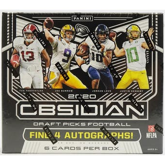 2020 Panini Obsidian Draft Picks Collegiate Football Hobby Box