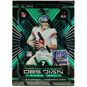 2020 Panini Obsidian Football 1st Off The Line FOTL Hobby Box