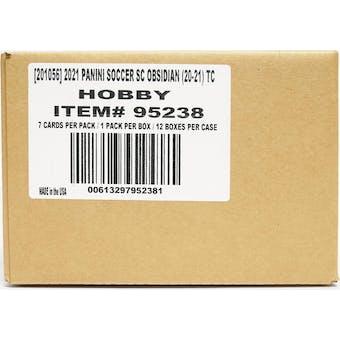 2020/21 Panini Obsidian Soccer Hobby 12-Box Case