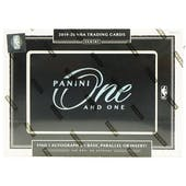 2019/20 Panini One and One Basketball Hobby Box
