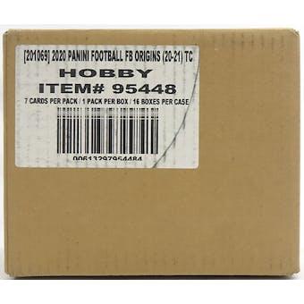 2020 Panini Origins Football Hobby 16-Box Case