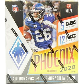 2020 Panini Phoenix Football 4-Box- DACW Live 8 Spot Random Division Break #2