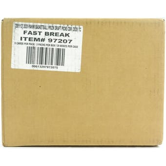 2020/21 Panini Prizm Draft Picks Fast Break Basketball 20-Box Case