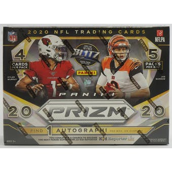 2020 Panini Prizm Football Mega Box (20 Cards) (Target)