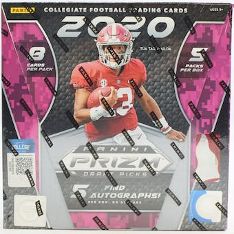 2020 Panini Prizm Draft Picks Football Hobby Box