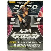 2020 Panini Prizm Draft Picks Baseball 6-Pack Blaster Box