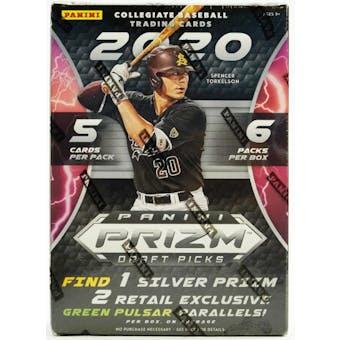 2020 Panini Prizm Draft Picks Baseball 6-Pack Blaster Box