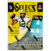 2020 Panini Select Football 6-Pack Blaster Box (Tri-Color Prizms)