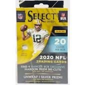 2020 Panini Select Football Hanger Box (Maroon Prizms)