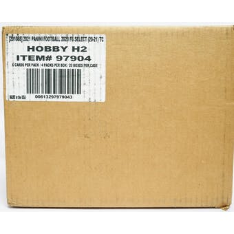 2020 Panini Select Football Hobby Hybrid H2 20-Box Case