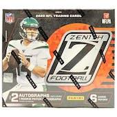 2020 Panini Zenith Football Hobby Box