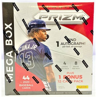 2020 Panini Prizm Baseball 44ct Mega Box