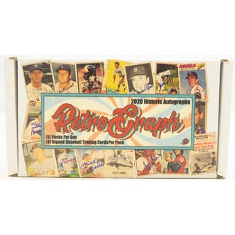 2020 Historic Autographs Retro-Graphs Baseball Hobby Box