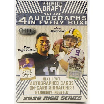 2020 Sage Hit High Series Football Blaster Box