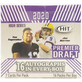 2020 Sage Hit Premier Draft High Series Football Hobby Box