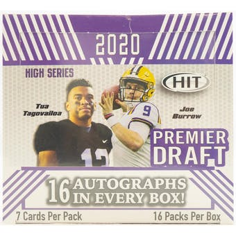 2020 Sage Hit Premier Draft High Series Football Hobby Box