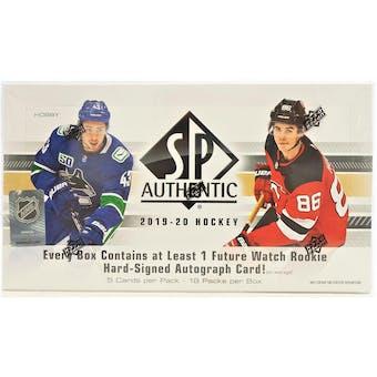 2019/20 Upper Deck SP Authentic Hockey Hobby Box