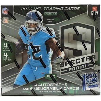 2020 Panini Spectra 1st Off The Line Football Hobby Box