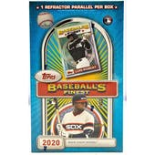 2020 Topps Finest Flashbacks Baseball Hobby Box