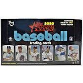 2020 Topps Heritage Baseball Hobby Box